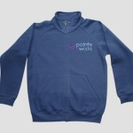 Pointe Works customised diamanté zip top - Front
